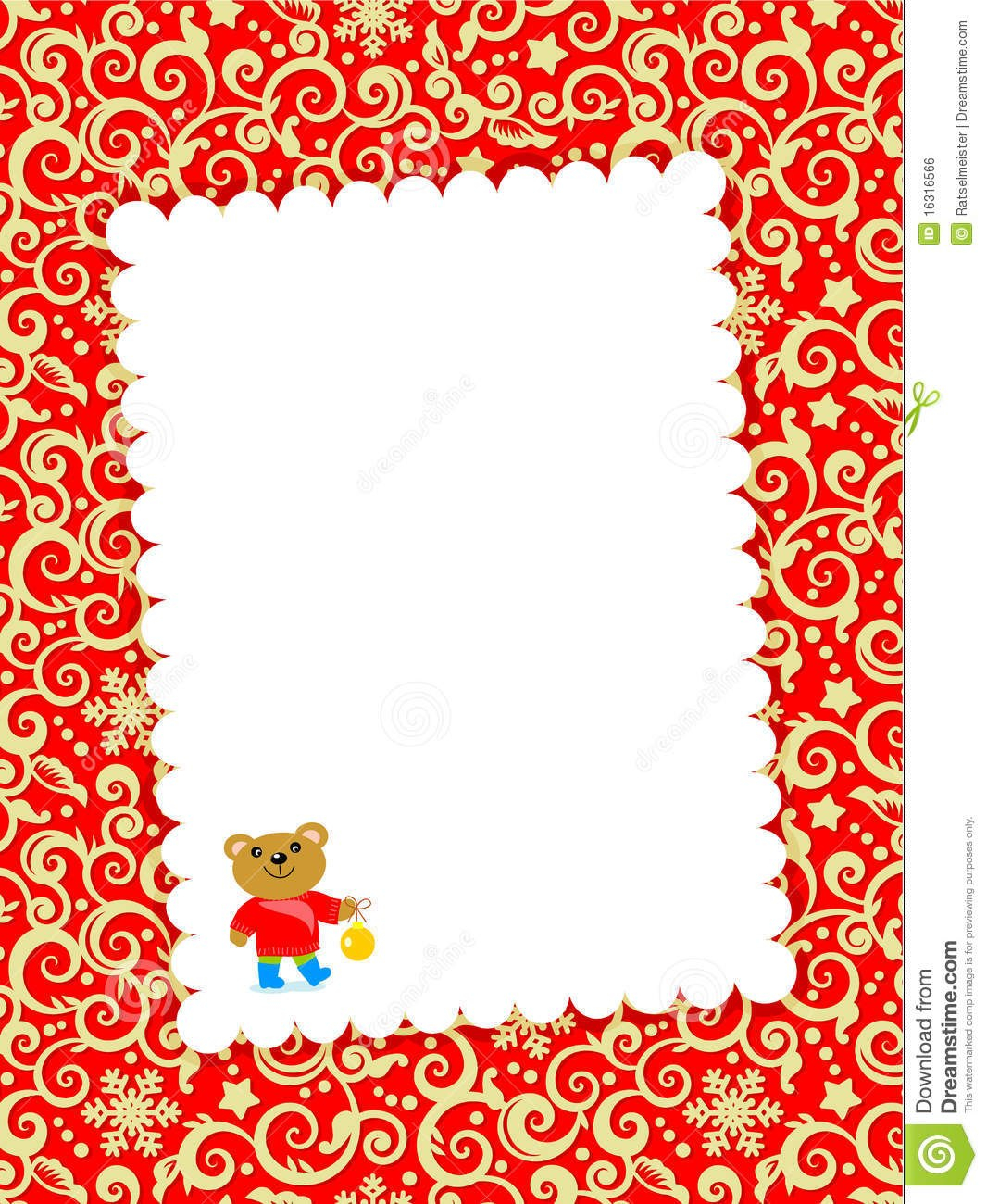 Christmas Card With Blank Letter Stock Vector  Illustration Of Inside Blank Christmas Card Templates Free