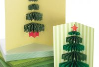 Christmas Cards  Martha Stewart pertaining to 3D Christmas Tree Card Template