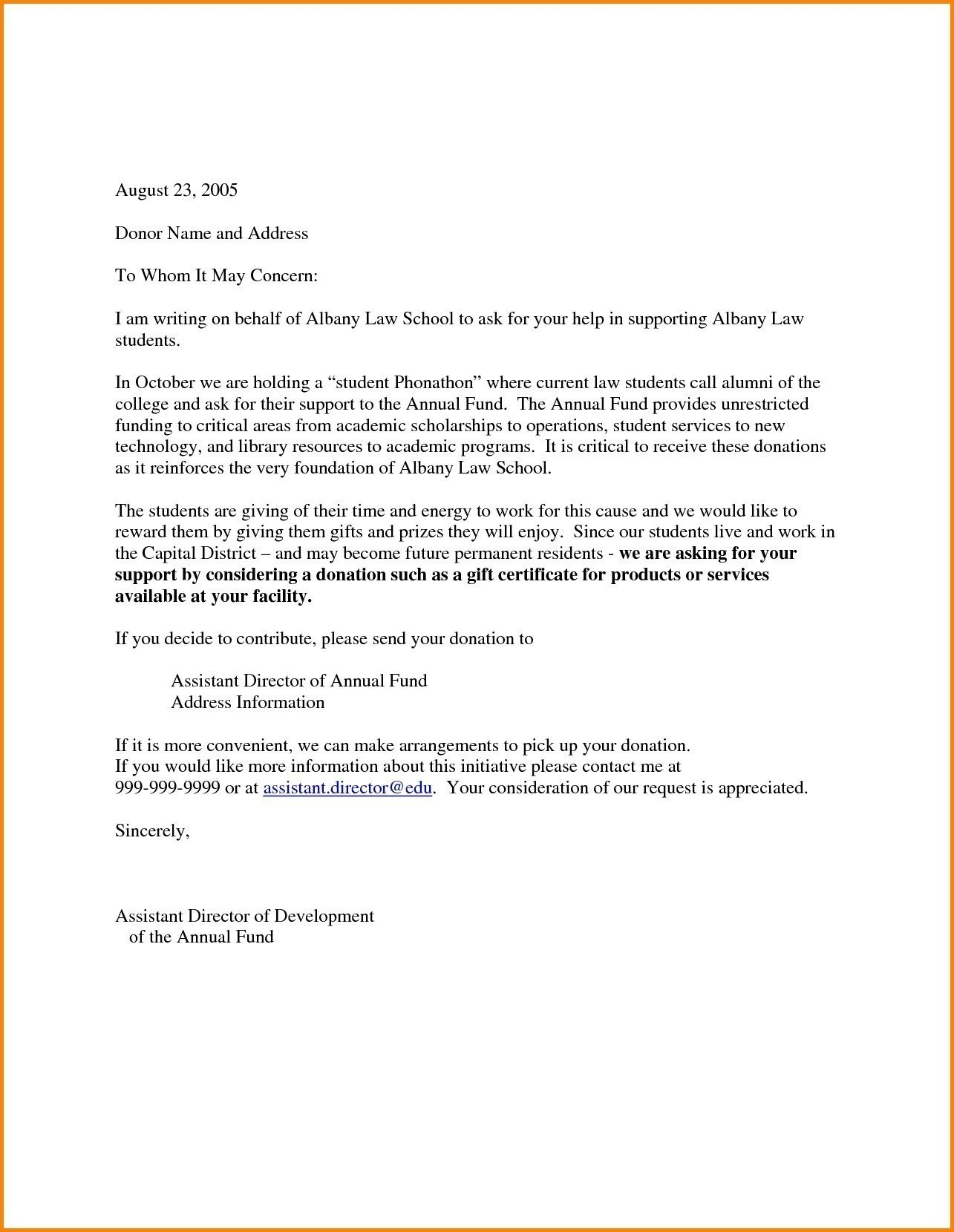Christmas Donation Letter Template Gallery Inside Business Donation Letter Template