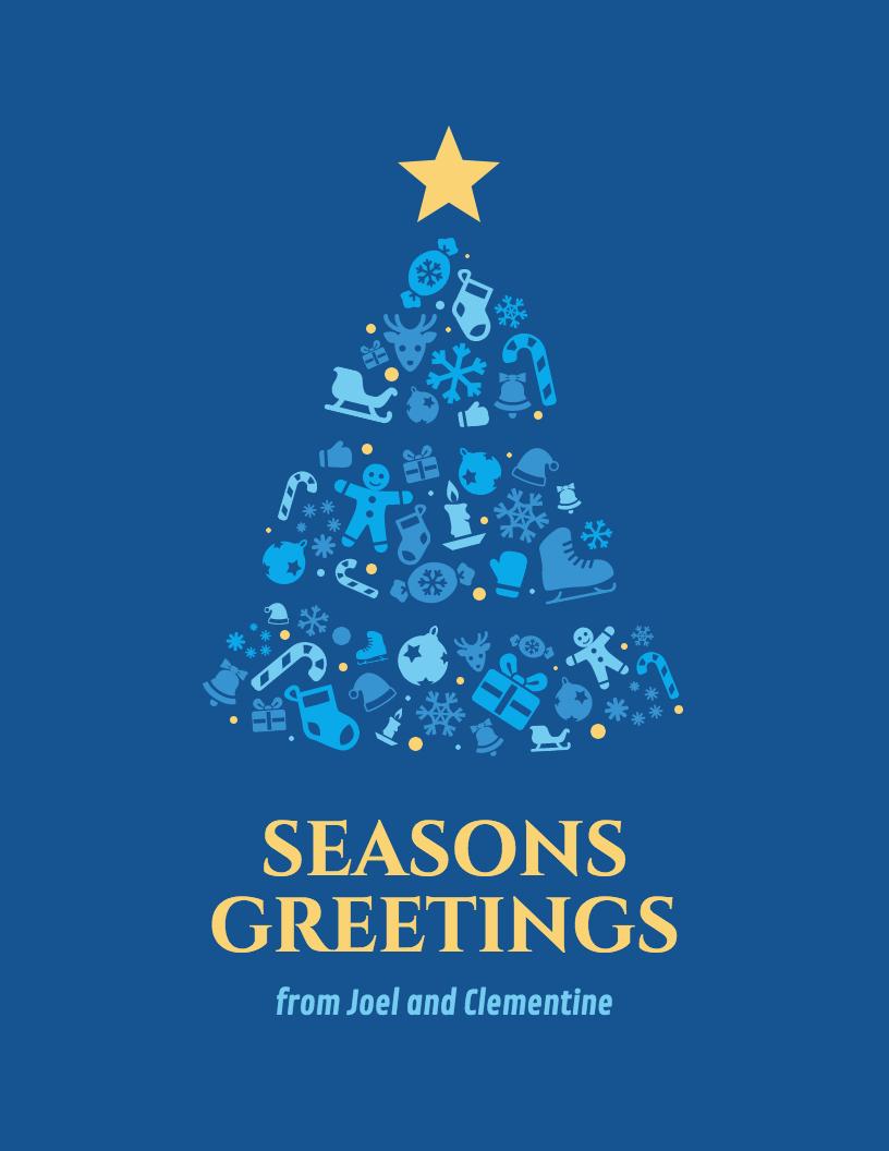Christmas Fonts Christmas Card Templates  Christmas Icons In Diy Christmas Card Templates