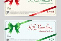 Christmas Gift Card Or Gift Voucher Template Vector Image throughout Gift Card Template Illustrator