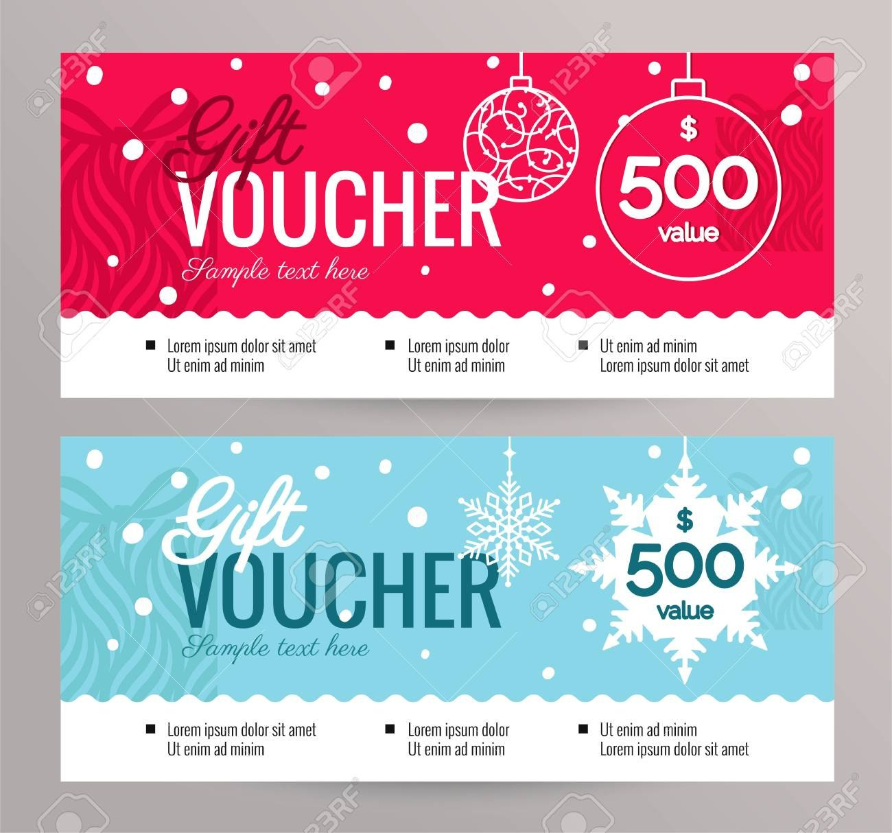Christmas Gift Voucher Coupon Discount Gift Certificate Template Inside Merry Christmas Gift Certificate Templates