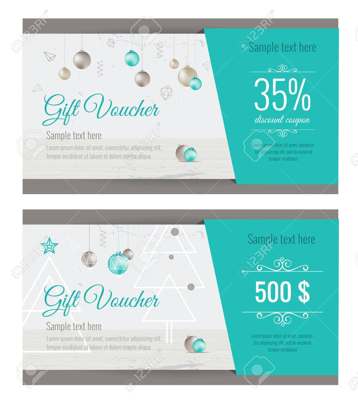 Christmas Gift Voucher Coupon Discount Gift Certificate Template Within Merry Christmas Gift Certificate Templates