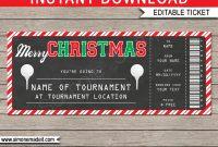 Christmas Golf Ticket Gift Voucher  Golf Tournament Ticket Template with regard to Golf Gift Certificate Template