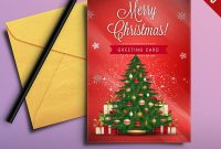 Christmas Greeting Card Free Psd  Psdfreebies for Free Christmas Card Templates For Photoshop