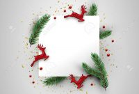 Christmas Greeting Card Template Realistic Red Reindeer Ornaments within Christmas Note Card Templates