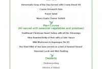 Christmas Menu Template   Free Templates In Pdf Word Excel Download inside Christmas Day Menu Template