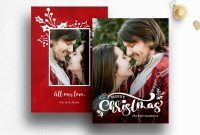 Christmas Photo Card Template Photoshop pertaining to Free Christmas Card Templates For Photoshop