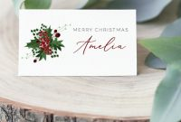 Christmas Place Cards Holiday Name Cards Editable Escort Cards  Etsy with Christmas Table Place Cards Template
