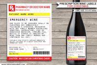 Christmas Prescription Wine Bottle Labels Template Secret Santa Gag with Secret Santa Label Template
