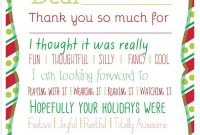 Christmas Printable Thank You Cards For Kids with regard to Thank You Card For Teacher Template