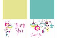Christmas Thank You Notes Printable  Icardcmic with Christmas Thank You Card Templates Free