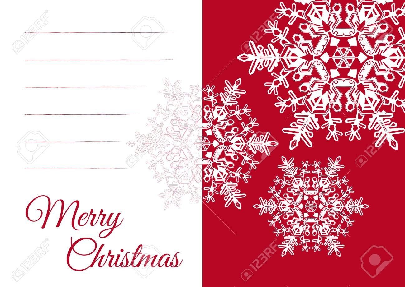 Christmas Vector Greeting Card Template With Blank Text Field With Regard To Blank Snowflake Template