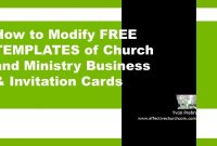 Church Invitation Cards  Effective Church Communications throughout Church Invite Cards Template