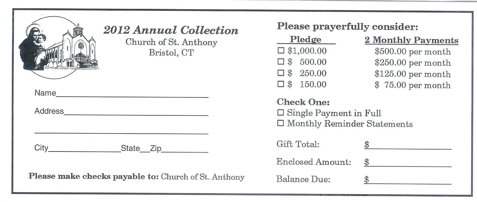 Church Pledge Card Template  Savethemdctrails Throughout Church Pledge Card Template
