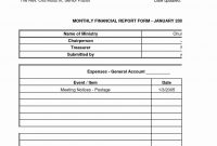 Church Quarterly Financial Report Example Treasurer E Monthly Excel pertaining to Annual Financial Report Template Word