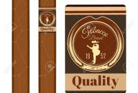 Cigar Label Template Set Vector Flat Illustration Royalty Free pertaining to Cigar Label Template