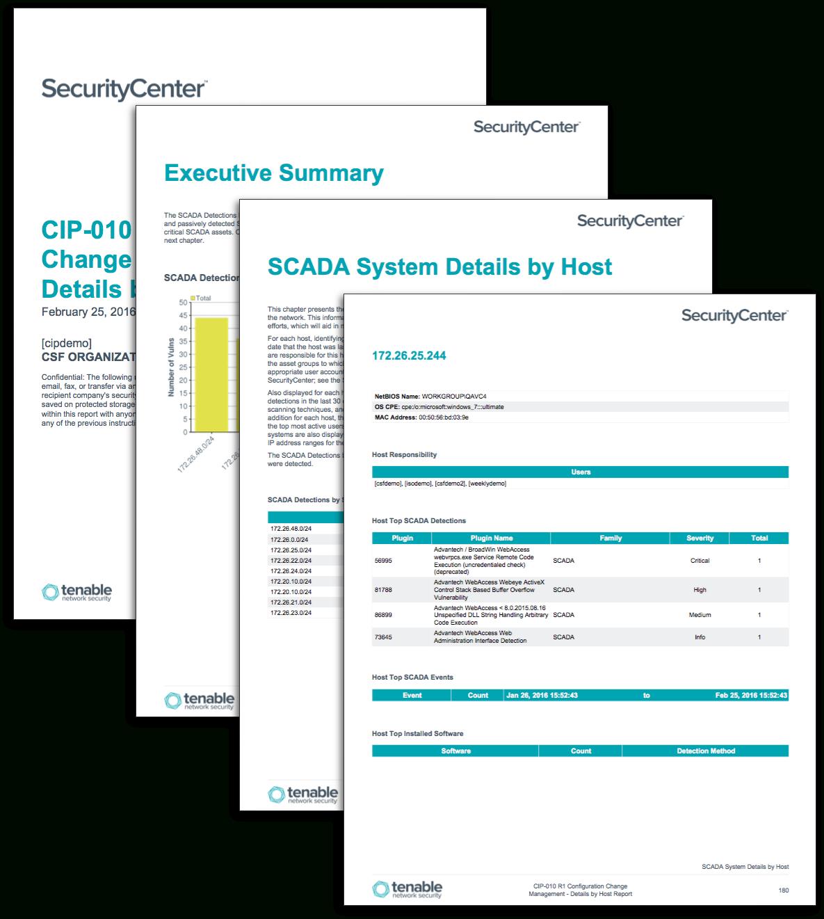 Cip R Configuration Change Management  Detailshost Report For Reliability Report Template
