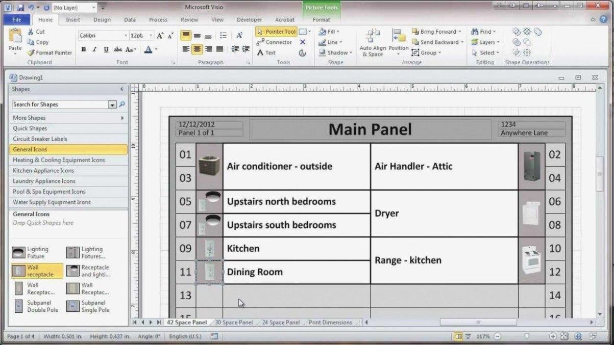 Circuit Breaker Panel Labels  Trafficfunnlr Throughout Breaker Box Label Template