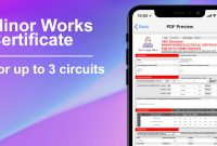 Circuit Minor Works Electrical Certificate  Icertifi for Minor Electrical Installation Works Certificate Template