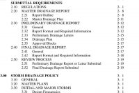 City Of Aurora Storm Drainage Design And Technical Criteria  Pdf intended for Drainage Report Template
