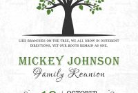 Classic Family Reunion Invitation Design Template In Word Psd within Reunion Invitation Card Templates