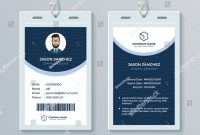 Clean Modern Employee Id Card Design Stock Vector Royalty Free with regard to Company Id Card Design Template