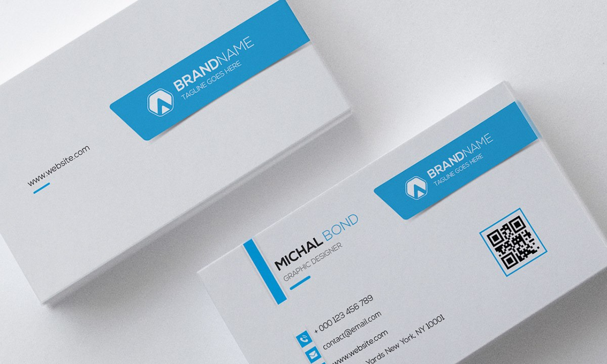 Clean Professional Business Card Template On Behance With Regard To Professional Name Card Template