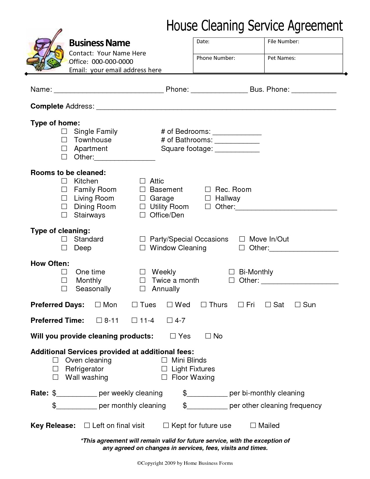Cleaning Service Agreement Template  Savethemdctrails Regarding Janitorial Service Agreement Template