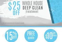 Cleaning Service Flyer Template With Discount Coupons And For Flyers For Cleaning Business Templates