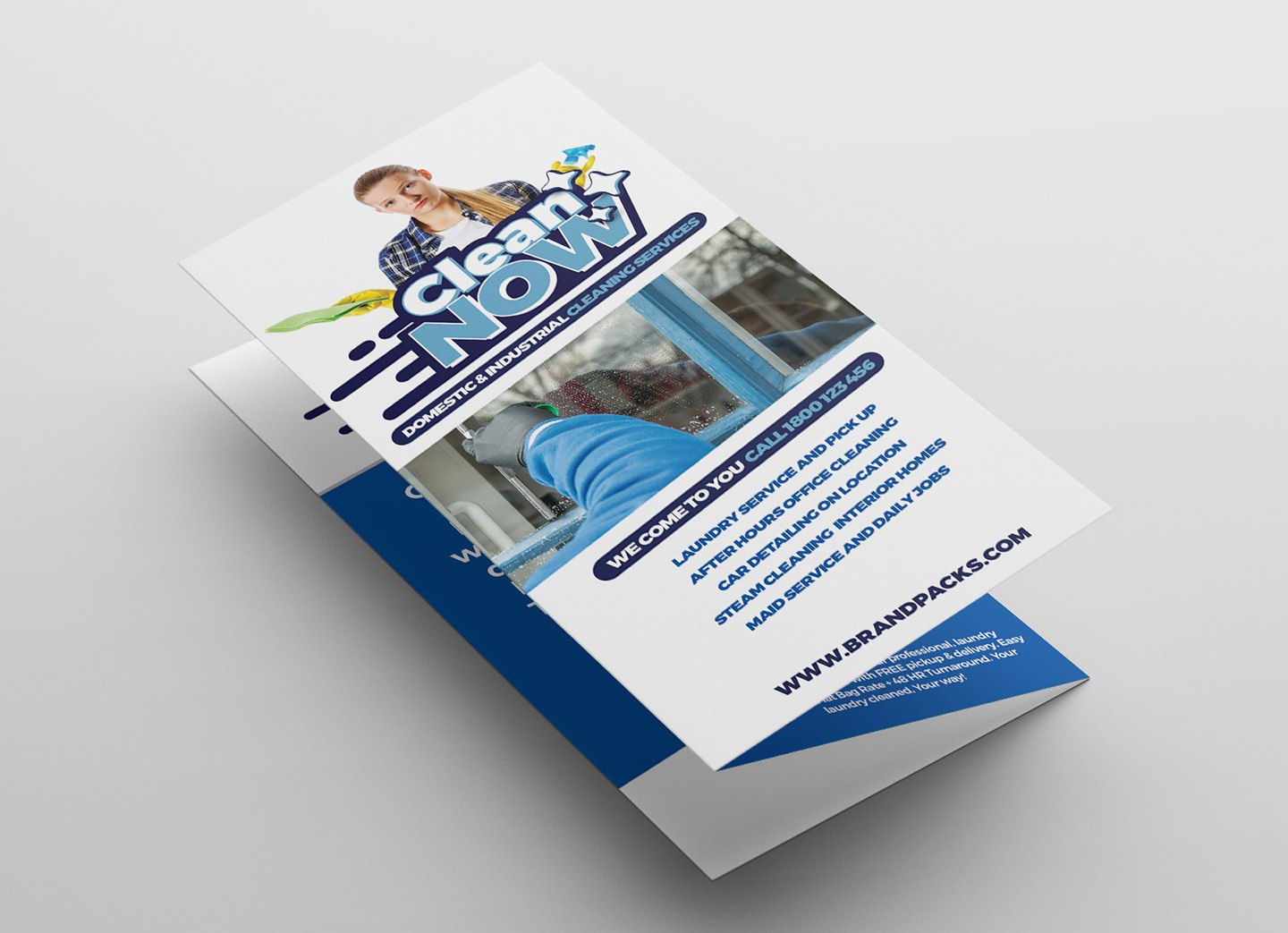 Cleaning Service Trifold Brochure Template In Psd Ai  Vector For Commercial Cleaning Brochure Templates