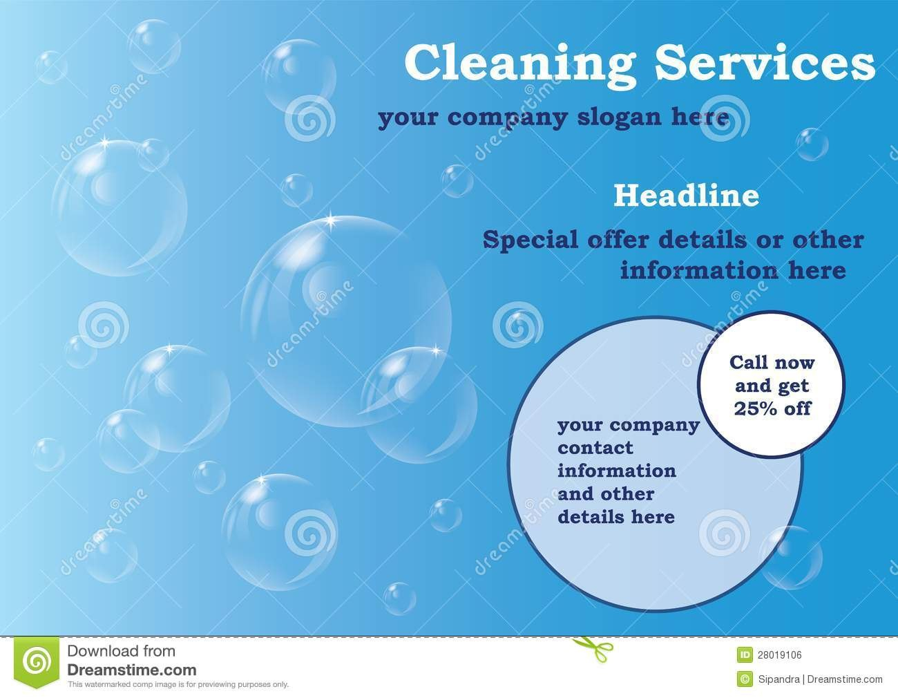 Cleaning Services Flyer Template Stock Illustration  Illustration Inside Flyers For Cleaning Business Templates