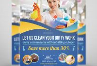Cleaning Services Flyer Template Volowpictures  Graphicriver Within Flyers For Cleaning Business Templates