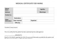 Climb Health Sample Medical Certificate For Hiking  Pinoy Mountaineer with Fit To Fly Certificate Template