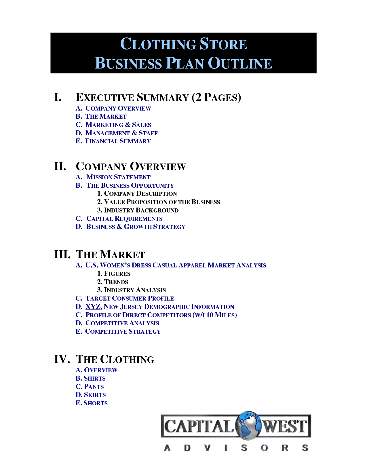 Clothing Line Business Plan Template Free  Free Business Template In Business Plan Template For Clothing Line