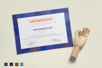 Club Membership Certificate Design Template In Psd Word within New Member Certificate Template