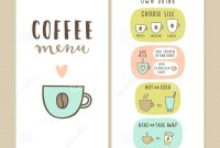 Coffee Bar Menu Template Stock Vector Illustration Of Coffee pertaining to Design Your Own Menu Template