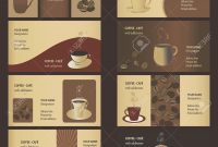 Coffee Business Card Templates Set Royalty Free Cliparts  Coffee throughout Coffee Business Card Template Free