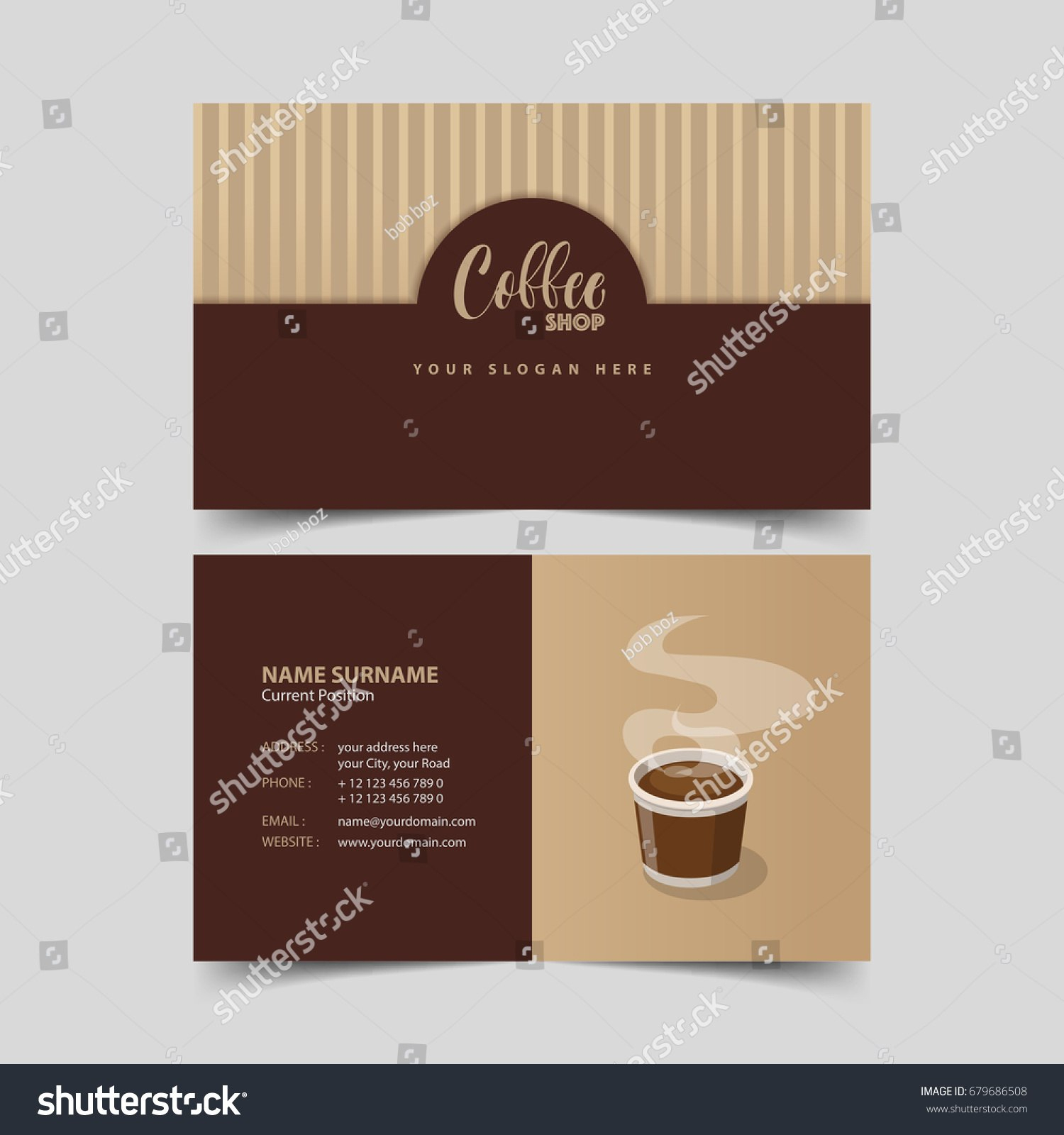 Coffee Shop Business Card Design Template Stock Vector Royalty Free For Coffee Business Card Template Free