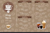 Coffee Shop Horizontal Menu Template Royalty Free Vector inside Horizontal Menu Templates Free Download