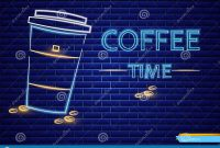 Coffee Shop Neon Sign Vector Glowing Coffee Cup To Go Symbol Dark throughout To Go Menu Template