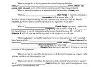 Cohabitation Agreement  Fill Online Printable Fillable Blank within Free Cohabitation Agreement Template
