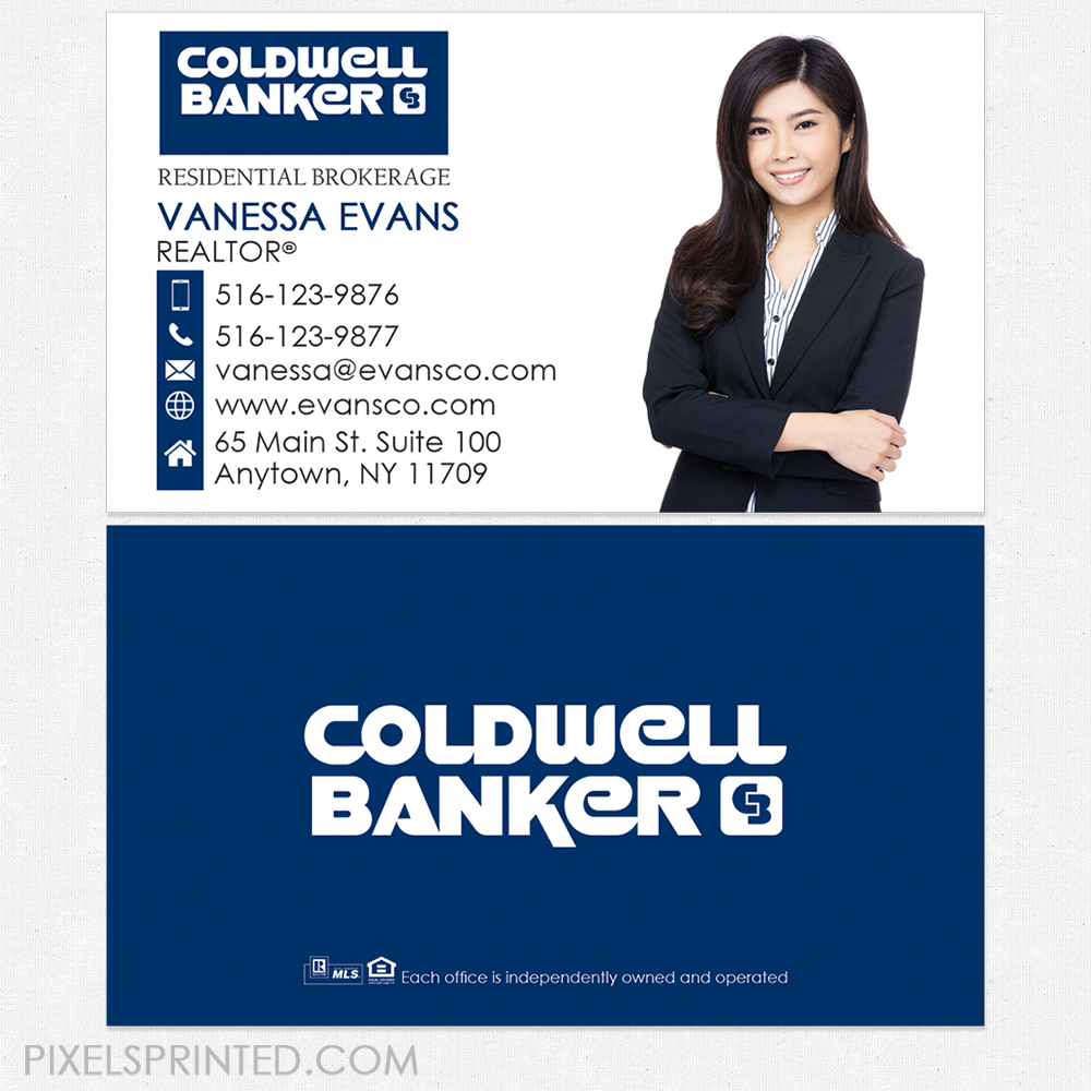 Coldwell Banker Business Cards In   Business Cards  Realtor In Coldwell Banker Business Card Template