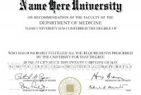College Diploma Template Pdf  Vision Board Quotes  College Diploma for Doctorate Certificate Template