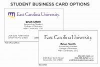 College Student Business Card Example New Student Business Card inside Student Business Card Template