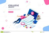 College Web Page Banner Template Stock Vector  Illustration Of Flat intended for College Banner Template