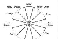 Color Wheel Worksheet Printable  Life Skills In   Color Wheel regarding Blank Color Wheel Template