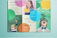 Colorful School Brochure  Tri Fold Template  Download Free intended for Play School Brochure Templates