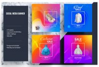 Colorful Social Media Banner Template pertaining to Product Banner Template