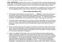 Commercial Mortgage Broker Fee Agreement  Docudgllc  Broker with regard to Trade Finance Loan Agreement Template